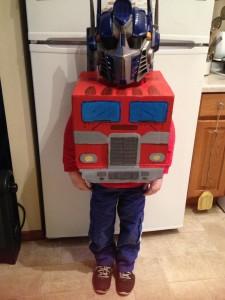 Riley's Optimus Prime Costume