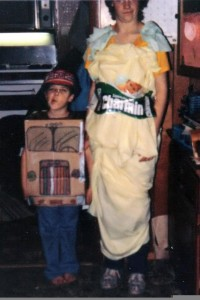 My sister and I for Halloween. (Her name really is Charmin...so she had a perfect costume)